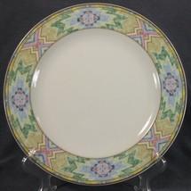 Christopher Stuart Rising Sun Y0264 Dinner Plates Multicolor Aztec Rim (M6) - $21.95
