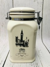 Tea, Food Storage Canister Cookie Jar London Big Ben Westminster Designpac - $12.86