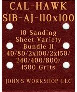 CAL-HAWK S1B-AJ-110x100 - 40/80/100/150/240/400/800/1500 - 10pc Variety ... - $12.46