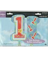 "One-derful ""1st Birthday"" 28"" x 19"" by Anagram SuperShape Foil Balloon - $6.82"
