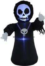HomCom 4 Outdoor Lighted Halloween Inflatable - Grim Reaper - £43.05 GBP