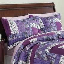 Caledonia Lavender Floral Patchwork 2 Piece Pillow Sham Set, Purple - $30.08