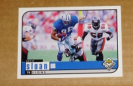 Detroit Lions, David Sloan #333, Upper Deck, NFL Trading Cards, 1998 Collectible - $0.55