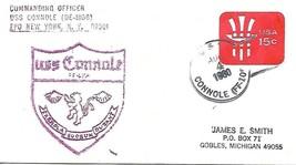 CONNOLE (FF-1056) 4 Aug 1980 Locy Type 2(n+)(C-142) Ships Crest Cachet - $3.47