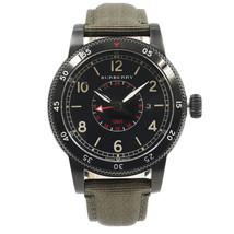 Burberry Utilitarian GMT Black Ion Plated Steel Nylon Quartz Mens Watch ... - $489.00