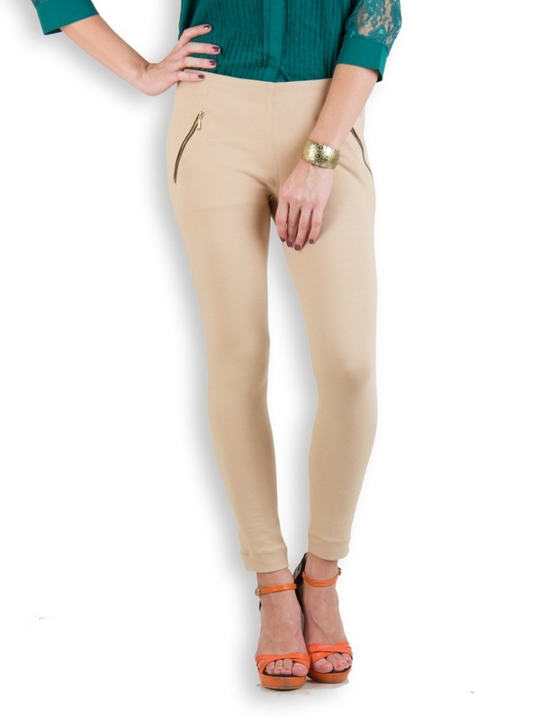 Rider Republic Women's Beige Super Strech Jeggings Size:34