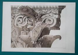 ROME Temple of Jupiter Stator Detail of Capital - 1905 Espouy Heliogravu... - $39.60