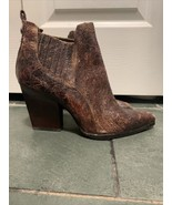 DONALD J PLINER Vale Distressed Brown Leather Ankle Boots -9M - Worn 2X VGC - $56.09
