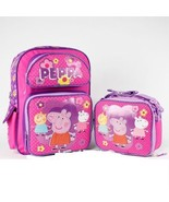"Peppa Pig Pink 16"" inches Large Backpack & Lunch Box Licensed Product - $99.99"