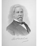 ROBERT MITCHELL Ireland Born Ohio Manufacturer - 1895 Portrait Print - $9.44