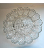 """INDIANA CLEAR GLASS HOBNAIL DEVILED EGG PLATE VINTAGE 11"""" WIDE VGC BRIGH... - $29.99"""