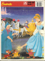 Walt Disney - Cinderella - FRAME-TRAY Puzzle - Golden 4510E-51 - 12 Pieces Compl - $3.50