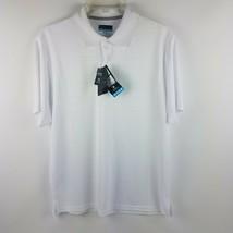 PGA Tour Men Airflux Bright White Golf Polo Shirt MSRP $55 - $39.95