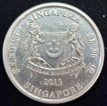 2013 SINGAPORE 20 CENTS  CIRCULATED COIN  - $3.99