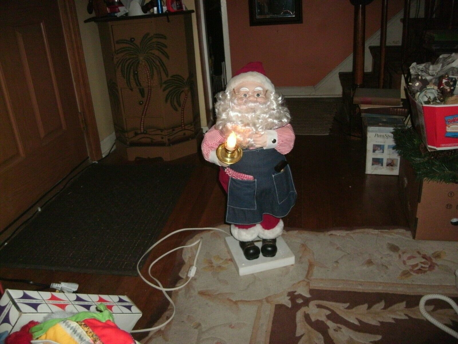 "Primary image for 24#  Vintage Santa Claus  Motionette 26 "" lights Animated Moves & Music"