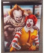 IT Pennywise vs Ronald McDonald Glossy Art Print 11 x 17 In Hard Plastic... - $24.99