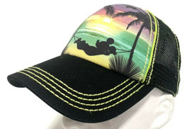 Disney Parks Mickey Mouse Trucker Hat Tropical Beach Theme Baseball Cap ... - $28.04