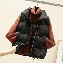 New black warm padded winter vest with pockets sleeveless waistcoat plus... - $38.00