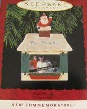 Hallmark 1993 Our Family Photo Holder Christmas Ornament - $4.95