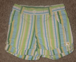 Gymboree Pop of Daisies Striped Seersucker Shorts Size 7 - $2.99