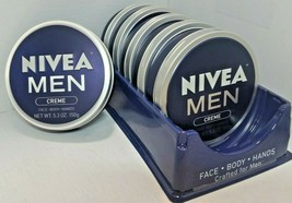 NIVEA Men Creme For Face+Body+Hands 5.3oz LOT OF 6 SEALED - $43.69