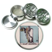 "Tarot Card D6 Aluminum Herb Grinder 2.5"" 63mm 4 Piece IX The Hermit - $13.81"