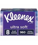 Kleenex Ultra Soft Facial Tissues, 8 Flat Boxes, (960 Tissues Total) - $21.86