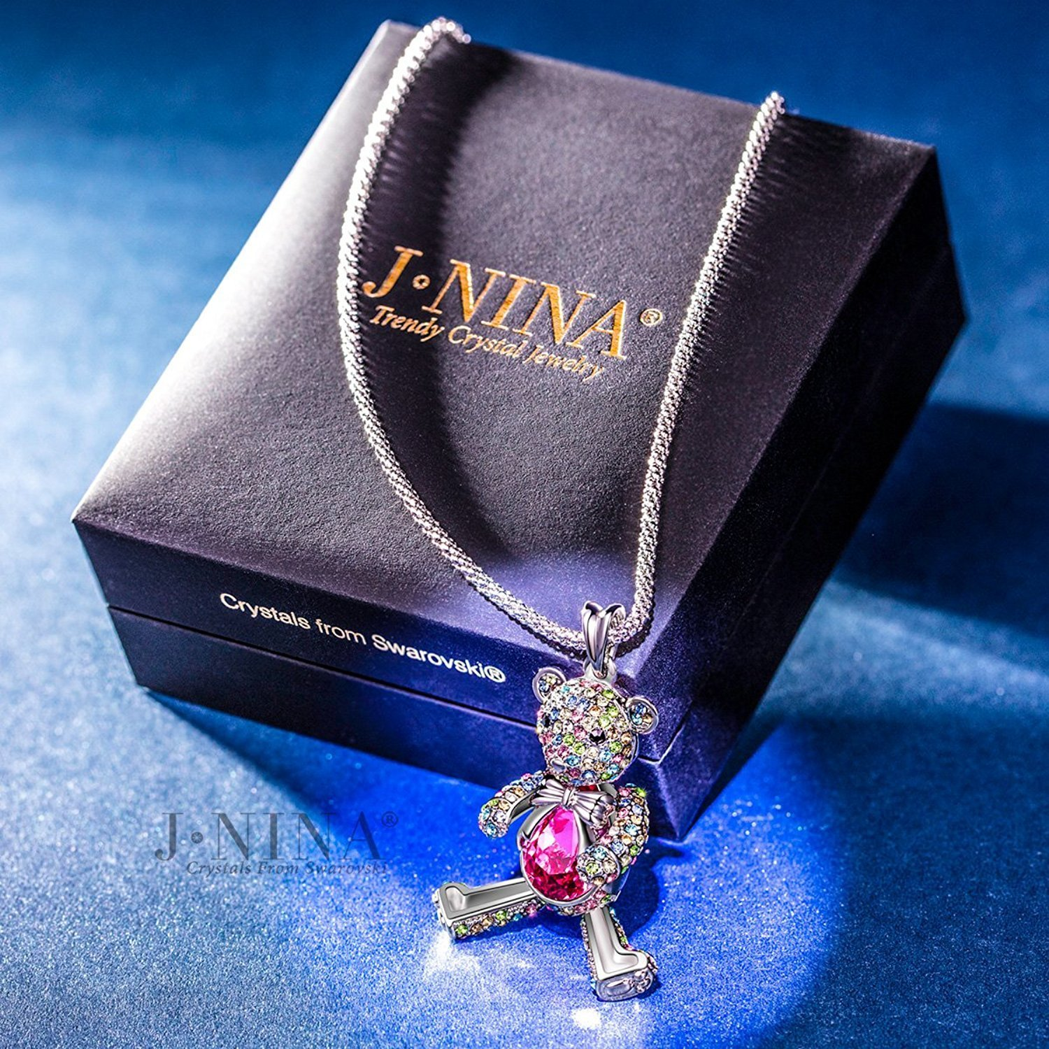 """Necklace, ♥Valentine's Day Gift♥ with Exquisite Package J.NINA """"Bear Princess"""" M"""