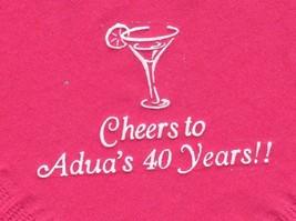 MARTINI GLASS LOGO 50 Personalized printed cocktail beverage napkins - $10.88+