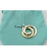 Authentic TIFFANY & CO Silver RUBEDO Metal 1837 Interlocking Circles Nec... - $155.81