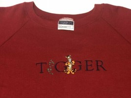 Men's Fruit of the Loom Red Tigger Sweatshirt Disney Embroidered Size 2XL - $48.99