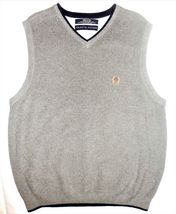 Tommy Hilfiger M Gray Knit V-Neck 100% Cotton Pullover Sleeveless Sweater Vest image 7