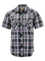 Men's Western Short Sleeve Button Down Casual Plaid Pearl Snap Cowboy Shirt image 3