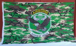 "Screaming Eagles Large Camouflage Large 60"" x 35"" Airborne Flag Military - $12.82"