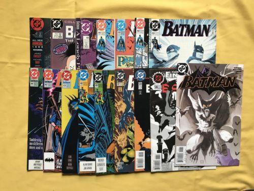 Lot of 16 Batman (1940) #412 440-521 534 536 626 Annual 13  FN-VF Very Fine