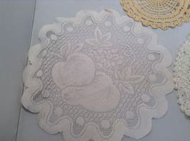 Assorted Antique Knit Doilies Set of 6 Various Sizes image 4