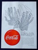 "MEGA RARE 1950 COKE COCA-COLA AD! 9"" x 12"" PROMOTIONAL ADVERTISEMENT APP... - $24.11"