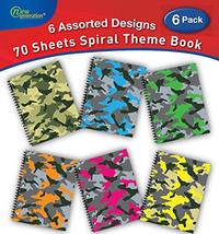 "Generation - Camouflage - 1 Subject 70 Sheets 8"" x 10.5"" wirebound Spira... - $19.52"