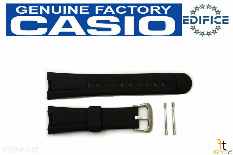 Primary image for CASIO EF-305 Edifice Original Black Rubber Watch Band Strap w/ 2 Pins EF-305-9