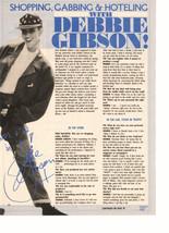 Debbie Gibson teen magazine pinup clipping shopping hoteling Teen Machine