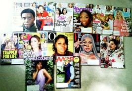 Lot of 13 Magazines Current! People, ELLE, Us, Oprah, AARP, T & C NEW W/... - $11.67