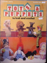 "Knit & Crochet Booklet ""Toys & Puppets"" 10pgs OOP 1978 - $5.99"