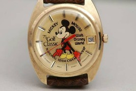 rare! 1975 Miami WDW Mickey Mouse Wrist watch PGA Golf Open Tour ELGIN - $3,737.25