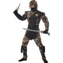 Bambini Speciale Ops Ninja Karate Militare Costume Halloween S-L 00326 image 3