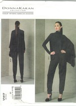 Vogue 1417 Donna Karan Half Cape Top and Pants Pattern Size 14 16 18 20 ... - $26.45