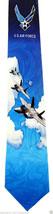 US Air Force Men's Necktie American Military Pilot Airplane Jet Blue Neck Tie  image 1