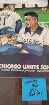 1978 Boston Red Sox @ Chicago Blanc Ouverture Jour Programme Yastrzemski... - $11.96