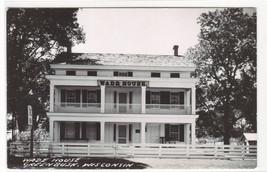 Wade House Greenbush Wisconsin RPPC real photo postcard - $6.44
