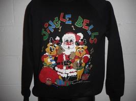Vintage X-Mas Jingle Bells Ugly Christmas Sweatshirt Large - $19.99