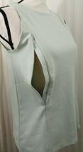 Breastfeeding Nursing Tank Lt Green Size L Zip To Feed Cotton Stretch NEW - $9.49